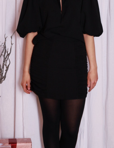 Heavy Crepe Skirt Black