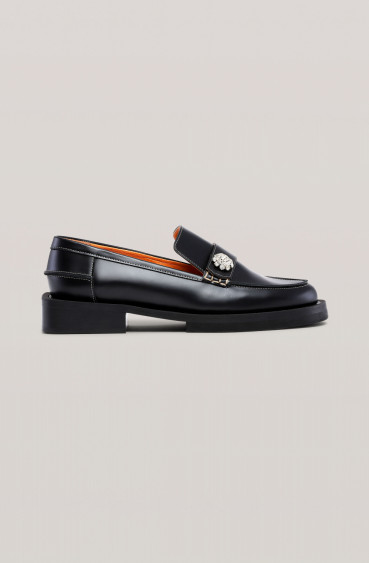 Jewel Moccasin Black