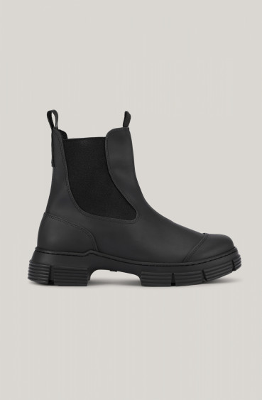 RECYCLED RUBBER CITY BOOTS BLACK