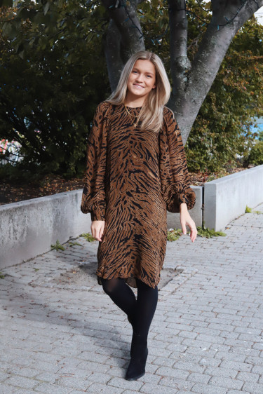 Printed Georgette Dress Tiger