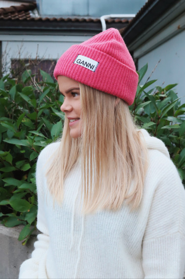 Knit Hat Hot Pink