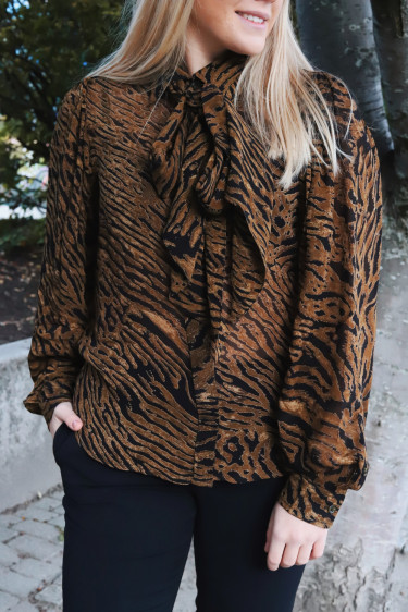 Printed Georgette Blouse Tiger