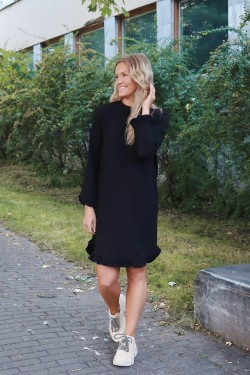 Heavy Crepe Dress Black
