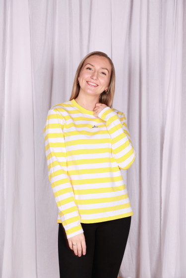 Classic Hanger Striped Longsleeve Yellow White