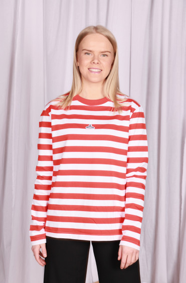 Classic Hanger Striped Longsleeve Red White
