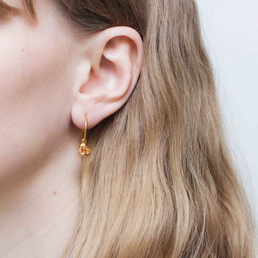 Fusion Joined Earrings Gold/Orange