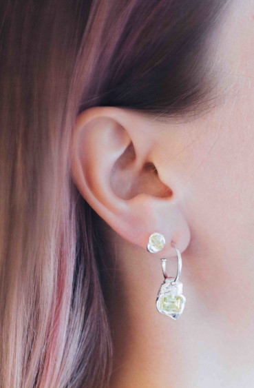Fusion Combined Earrings Silver/Green
