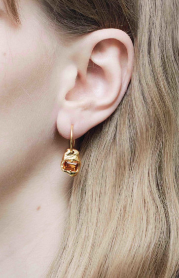 Fusion Combined Earrings Gold/Orange