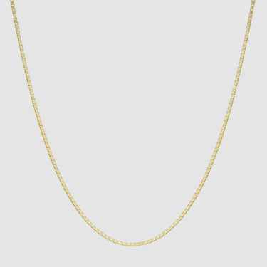 FACES SQUARE NECKLACE GOLD