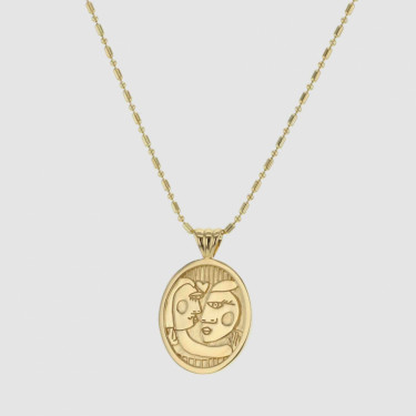 FACES LOVERS NECKLACE GOLD