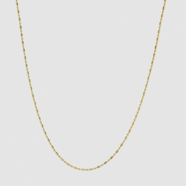 FACES BEAD NECKLACE GOLD