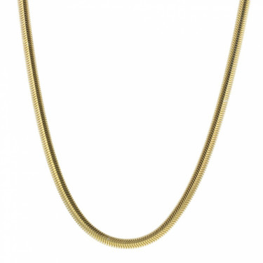 Rocks Snake Necklace Gold