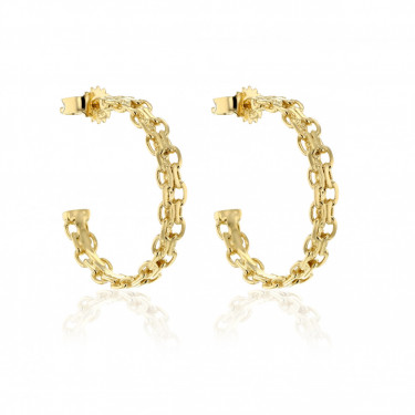 Woods Deciduous Hoops Gold