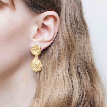 Woods Primeval Forest Earrings Gold