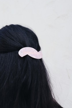 Solid Large Hair clip Pink