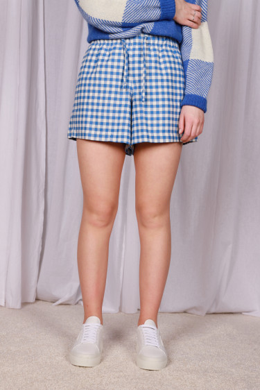 Musan Shorts Blue Check