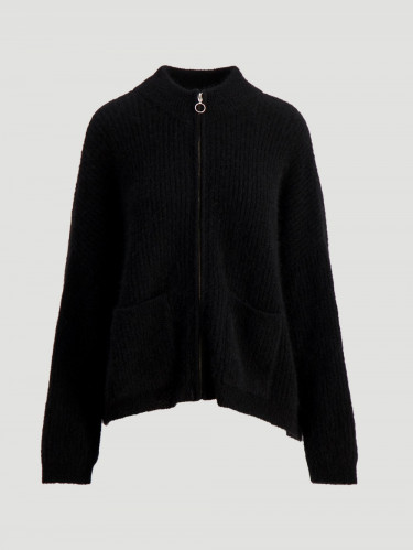 Penguin Cardigan Black