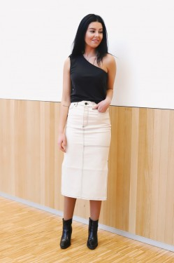 Lilja Denim Skirt Ecru