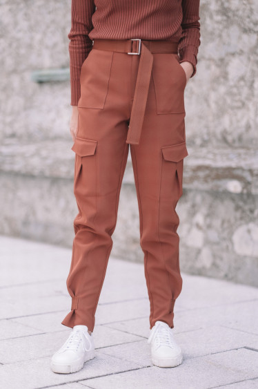 Skunk Trouser Terracotta