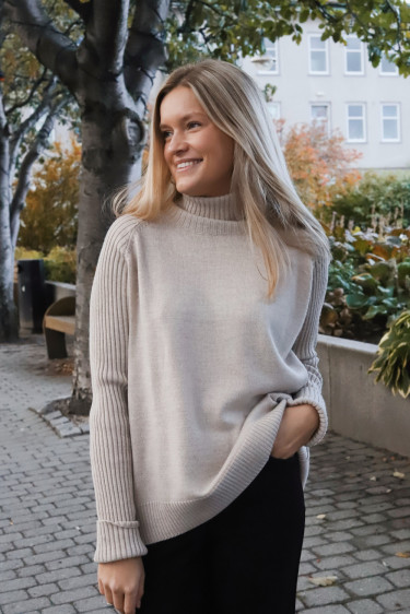 Impressed Knit Beige