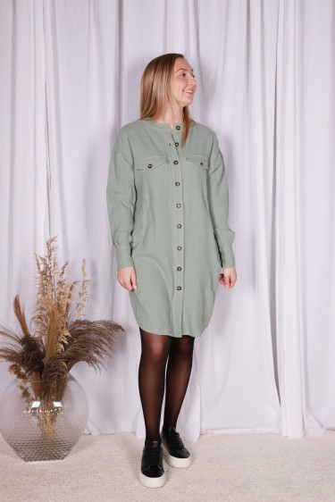 Jett Shirt Dress Chinois Green