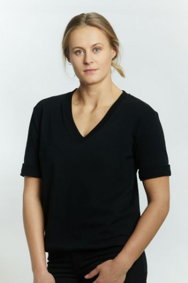 Anita Top V-Neck Black