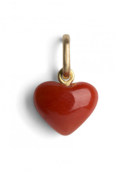 Coral Heart w 18-carat Gold