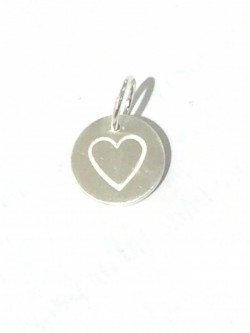 Large Love Tag Heart Silver