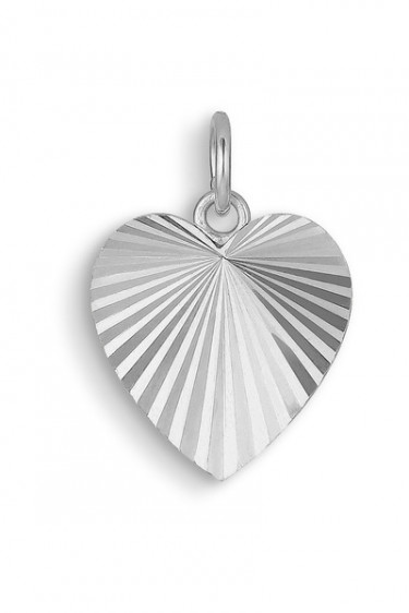 Reflection Heart Pendant Sterling Silver