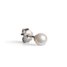 Medium Pearl Stud Silver