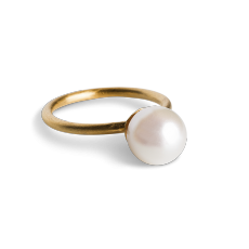 Small Pearl Ring Gold