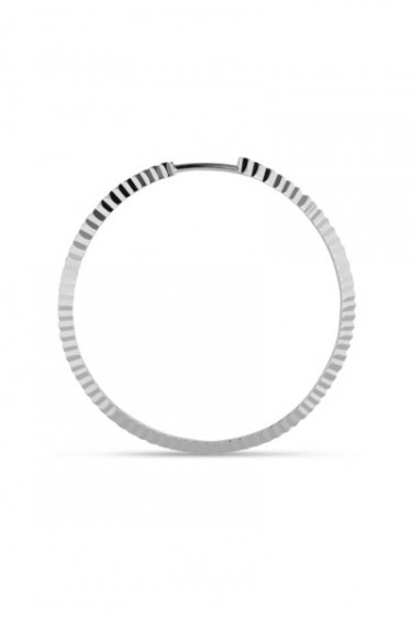 Reflection Midi Hoop Sterling Silver