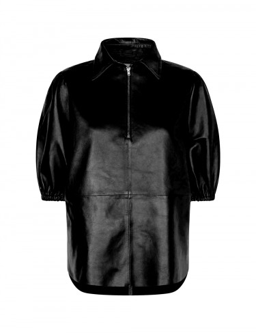 Globa 10 Leather Shirt Black
