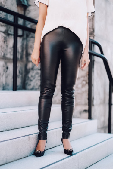 Gloria 1 Leather Pant Black