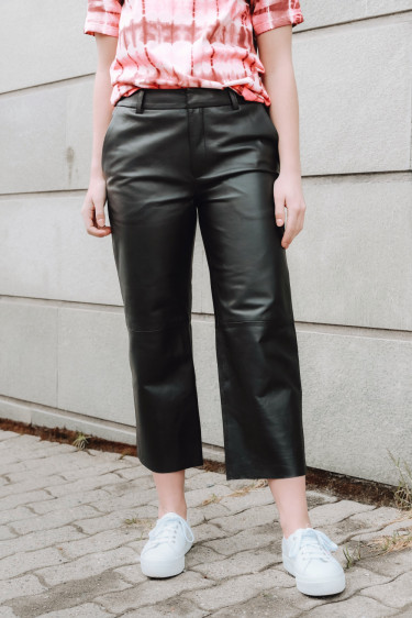 Globa 5 Leather Pants Black