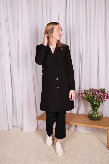 HELENA 12 Trenchcoat Black