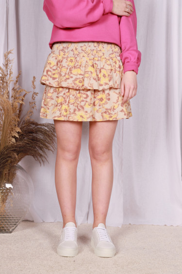 Davey Skirt Painted Floral Print