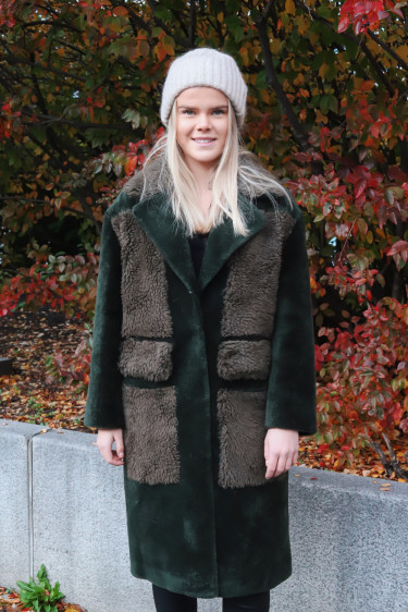 Jayne Coat Moss Green