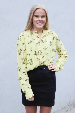 Elmy Shirt Aop Yellow Breeze
