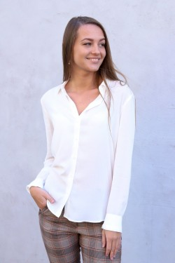 Milly np Shirt Clear Cream