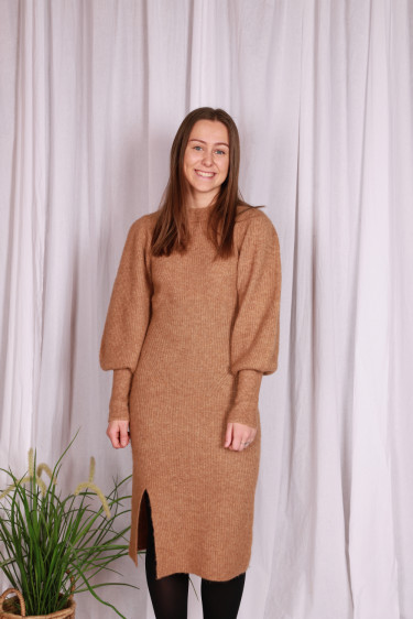 Mika Knit Dress Camel