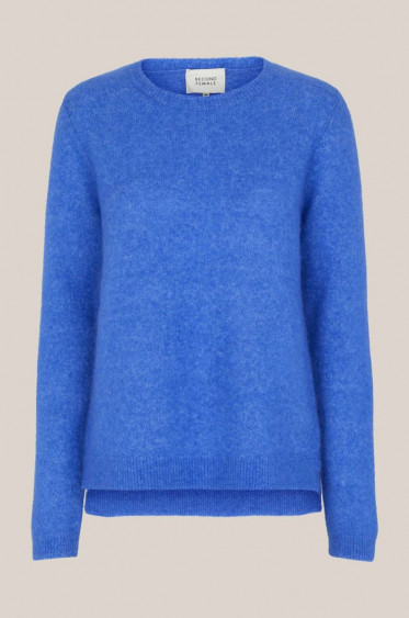 Brook Knit New O-neck Nebulas Blue