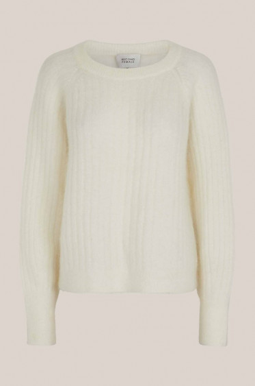 Brook Knit Cropped O-neck Pristine