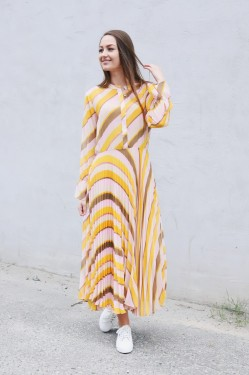 Live Ls Dress Cadmium Yellow