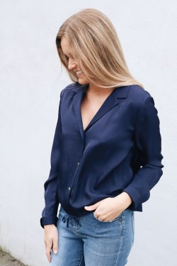 Drawstring Lapel Shirt