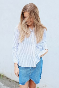 Stripe Boxy Shirt