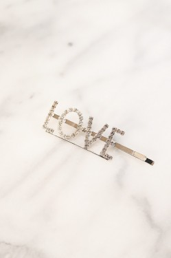 Spell Me Crystal Hairpin LOVE Gold