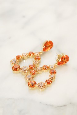Delia Earrings Tangerine/Light Peach Gold