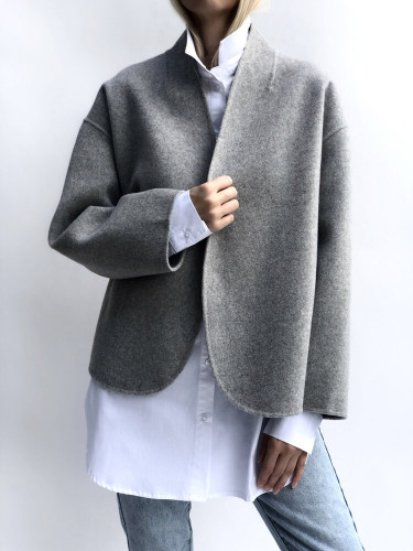 Greta Wool Jacket Light Grey