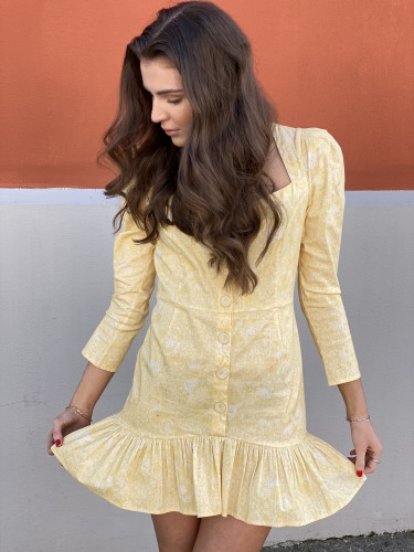 Grove Dress Rose Marigold Yellow
